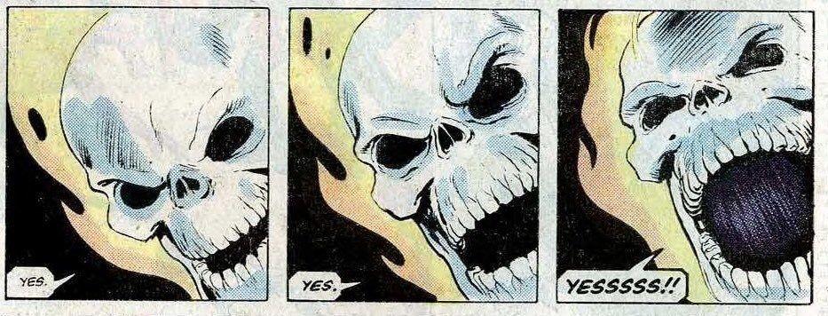 Yes. YES. YESSSSS!! skeleton comic reaction pic in 2020   Instagram girls,  Ghost rider, Anime