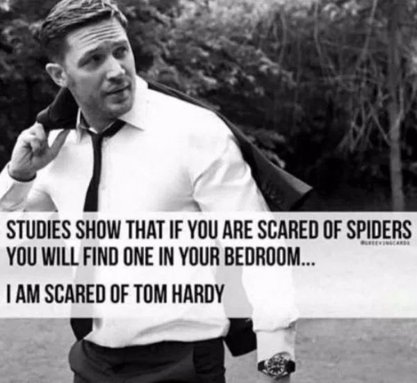 Funny Scared Quotes: I Am Scared Of Tom Hardy (Funny Celebrity Pictures