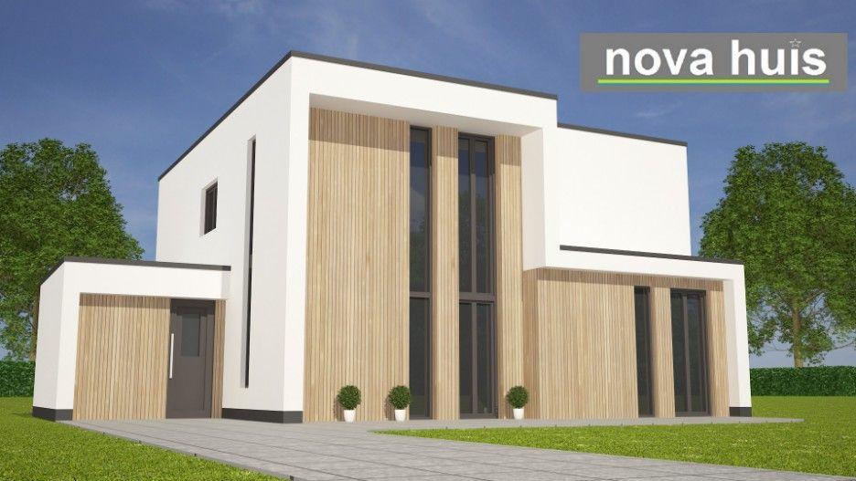 Nova huis moderne woning onder architectuur in kubistische