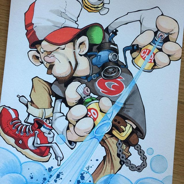 Rather Excitable Chap Cheo Sketch Wonderswan Bandai