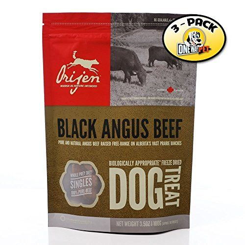 Orijen Black Angus Beef Freezedried Dog Treats 2oz Pack Of 3