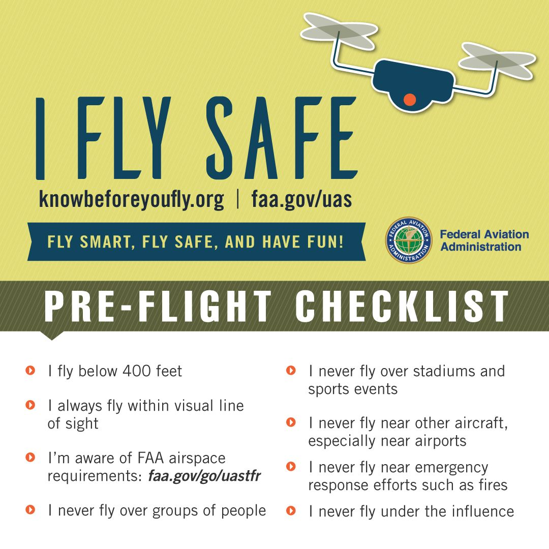 FAA-Pre-flight-checklist-personal-drone | Drones in Science ...