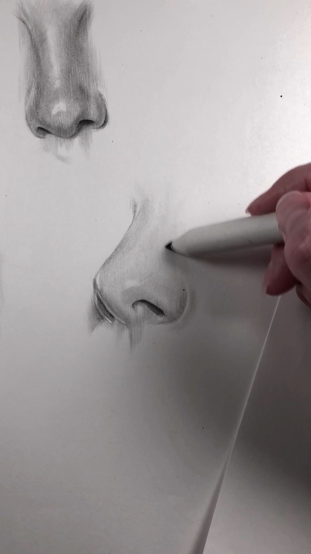 Photo of Keep practicing freehand drawing of face parts.