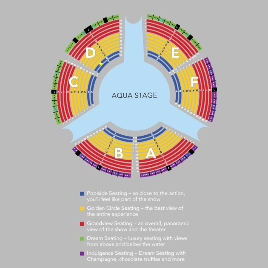 Seating Chart At Le Reve