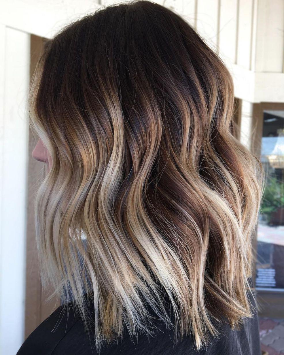 Braun mit blonden strähnen