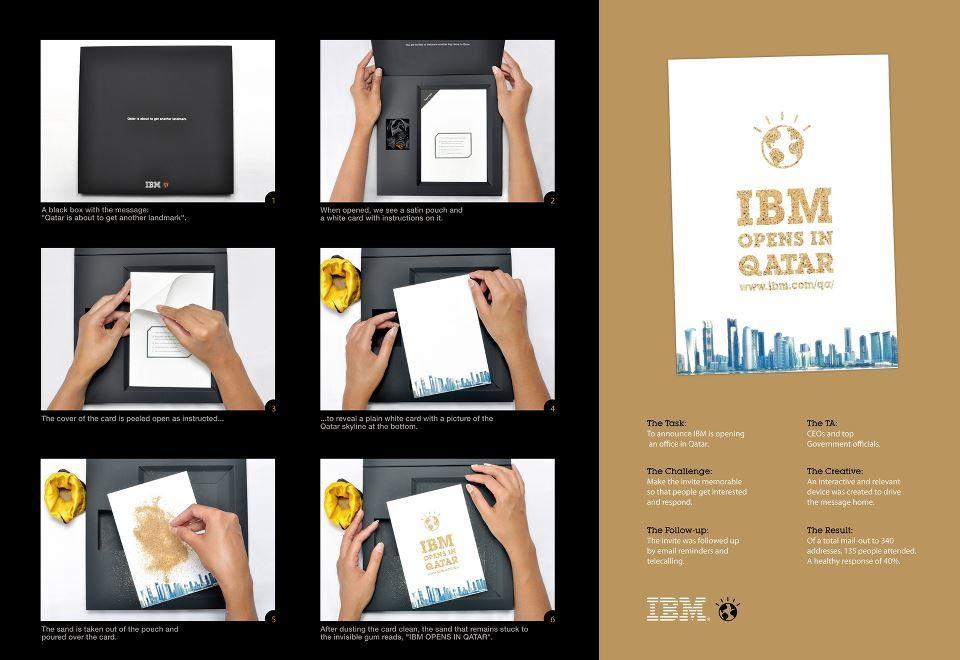 Mala direta muito legal para divulgar a IBM no Catar.    Criação: Ogilvy & Mather da Índia.