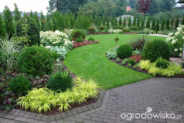 beautiful formal front yard garden