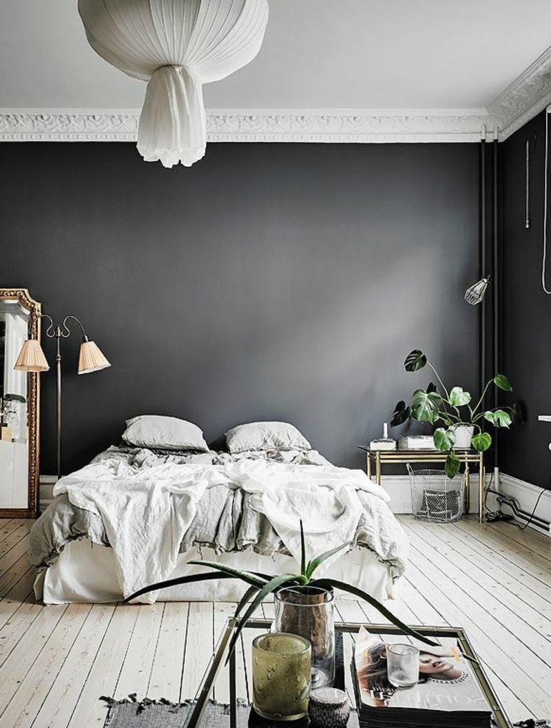Graue Schlafzimmer Wandfarbe In 100 Beispielen Dunklewande