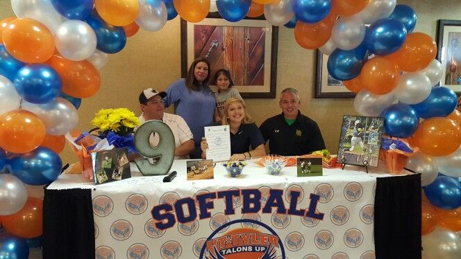 Committed Signed To The Softball Program At Ut Tyler College Signing Day Signing Ideas National Signing Day