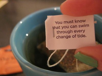 More wise words from Yogi Tea.