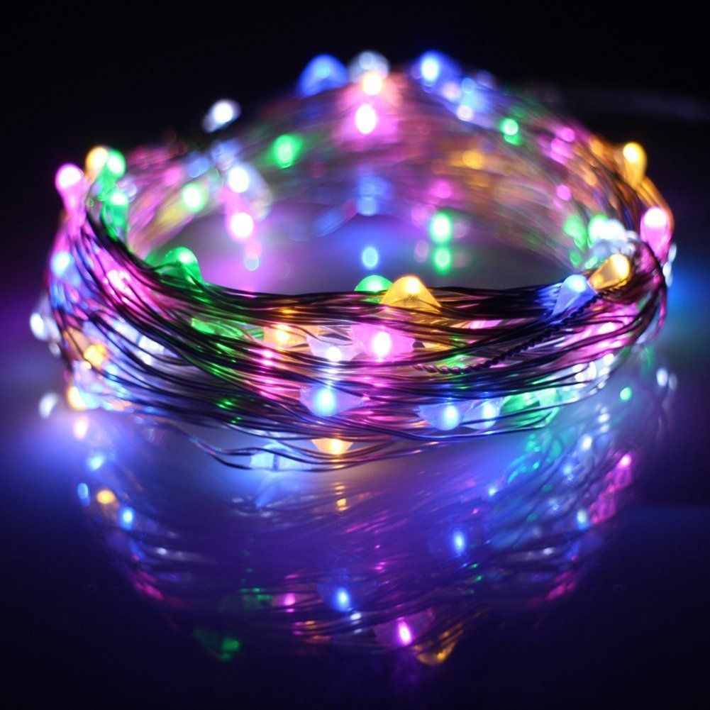 Amposei Multicolor USB Copper Wire LED Starry String Lights for Christmas Wedding Decoration 33FT 100 LEDs -- See this great image  : Wedding Decor