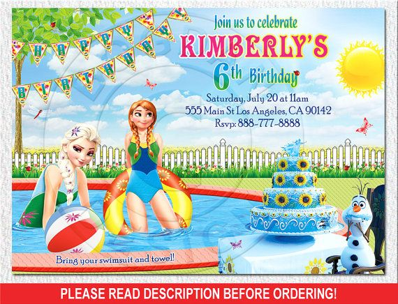 Frozen Fever Pool Party Pool Part Frozen Fever by BogdanDesign