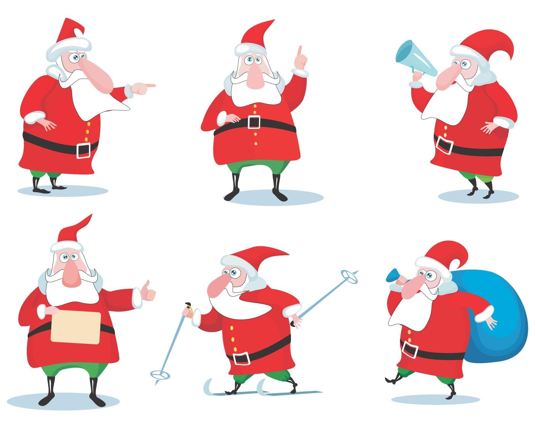 Cartoon Santa Claus Vector 02 [EPS File] Art, Artwork