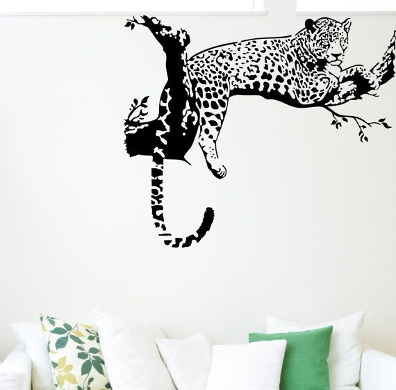 TIGER JUMPING Vinyl wall art sticker decal