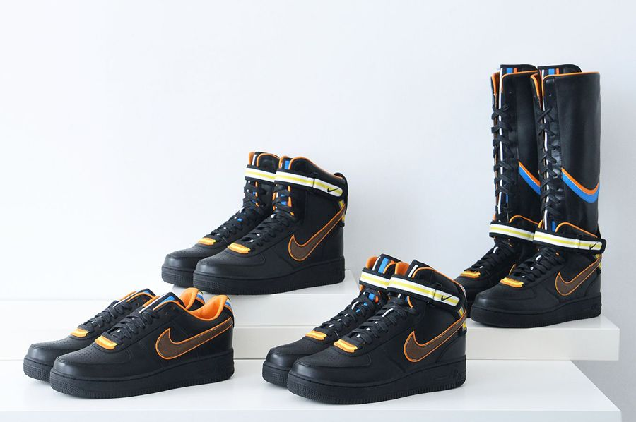 nike r.t. air force 1 black collection