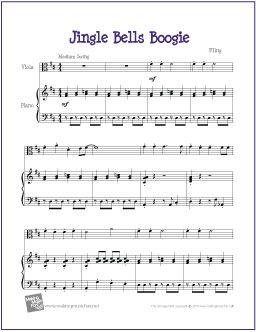 Jingle Bells Boogie Free Beginner Viola Sheet Music Digital Print Sheet Music Viola Sheet Music Cello Sheet Music