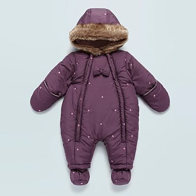 c7018fab0 Baby s purple flower embroidered snowsuit - Baby snowsuits - Coats ...