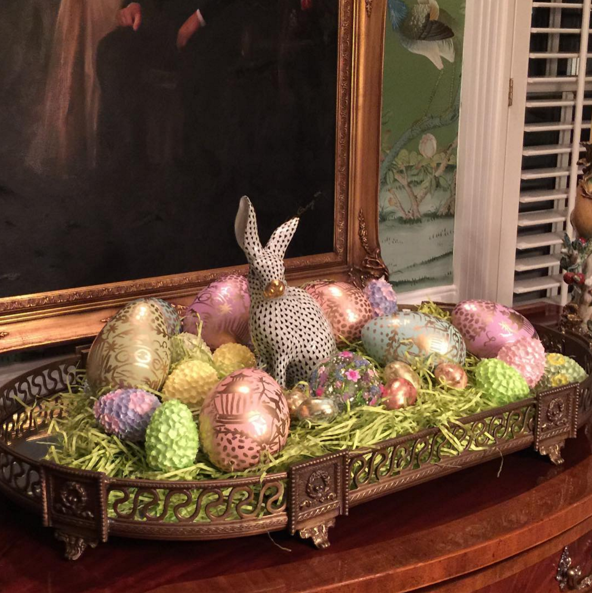 Herend Bunnies for Easter - The Glam Pad
