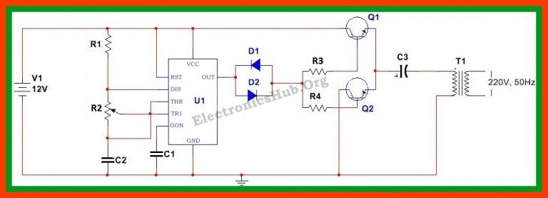 How To Make 12v Dc To 220v Ac Converter Inverter Circuit Design Circuit Design Electrical Circuit Diagram Circuit Diagram