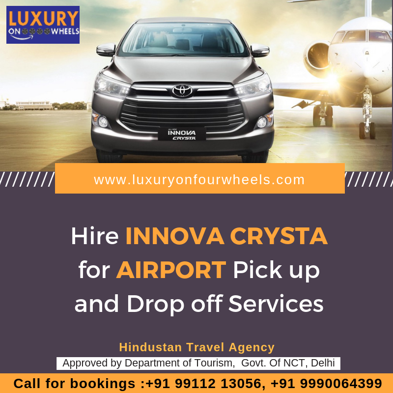 Hire Innova Crysta For Airport Pick Up And Drop Off Services Book Today The Most Luxurious Cars On Rent From The Best Car Rental Rent A Car Car Rental Service