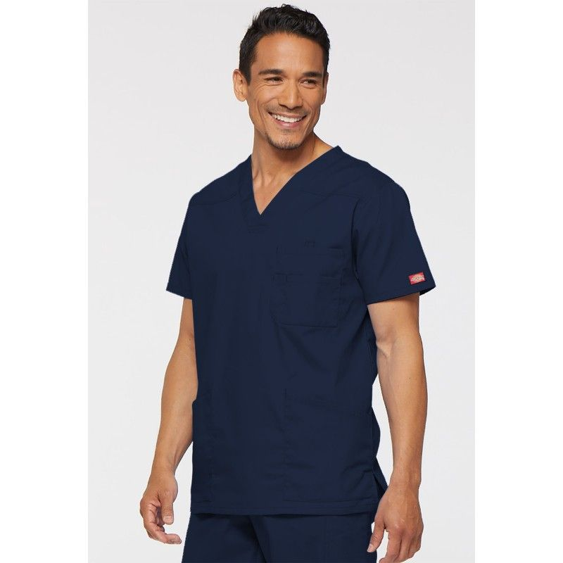 87dcf80c1fba1 Tunique Médicale Homme Dickies Bleu marine Tissu  55% coton 45% polyester Tunique  medicale