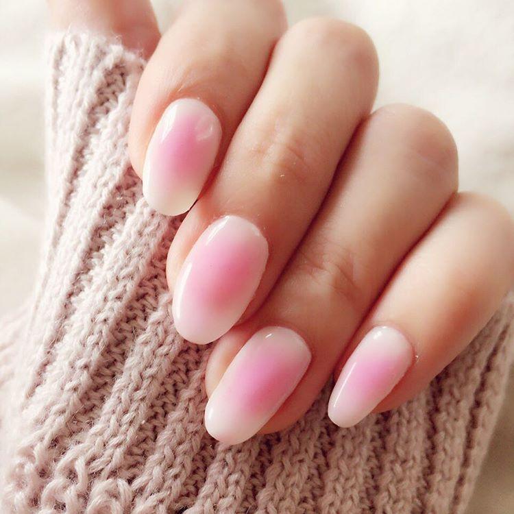 cheek nail - blush nail - gel pink - nail art - manicure - japan ...