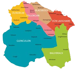Image result for map of dun laoghaire rathdown