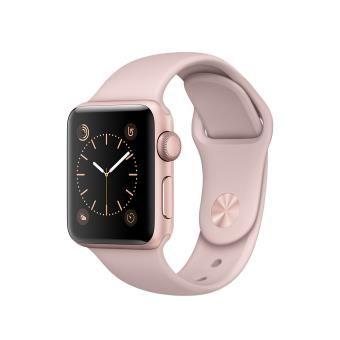 Apple Watch Series 2 38 Mm Boitier En Aluminium Or Rose Avec Bracelet Sport Rose Des Sables Rose Gold Watches Rose Gold Apple Watch Gold Apple Watch
