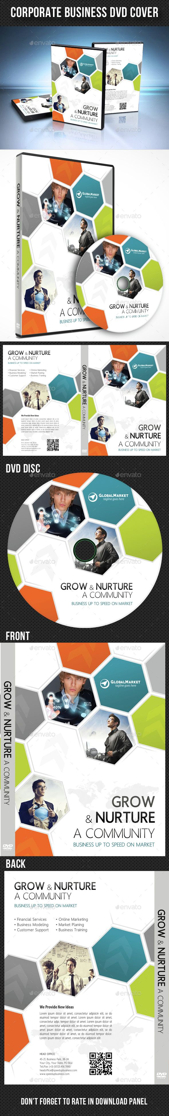 Corporate Business DVD Cover Template PSD. Download here: http ...
