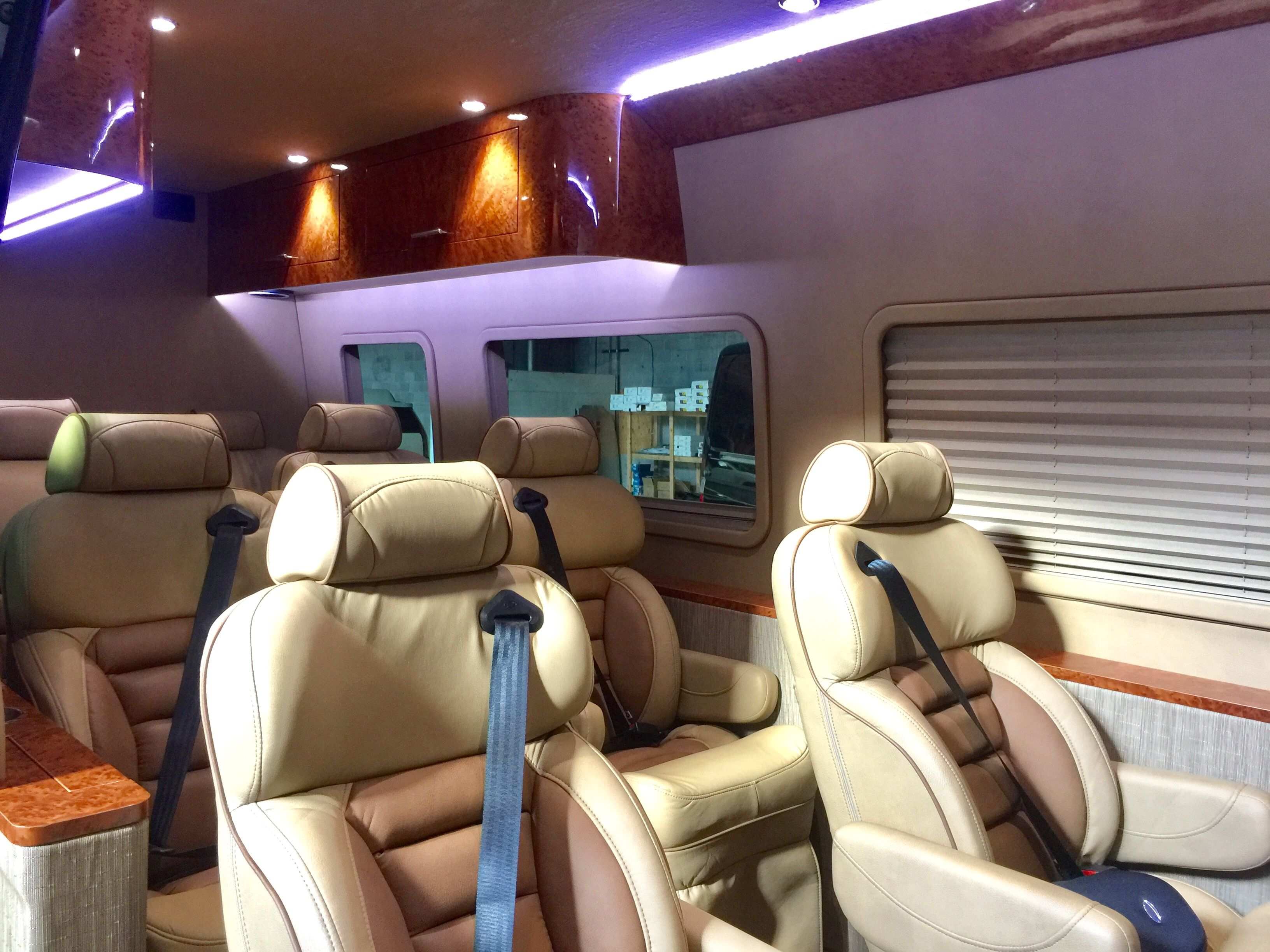 Interstate 10 Interior Custom Mercedes Benz Sprinter Van Upfit
