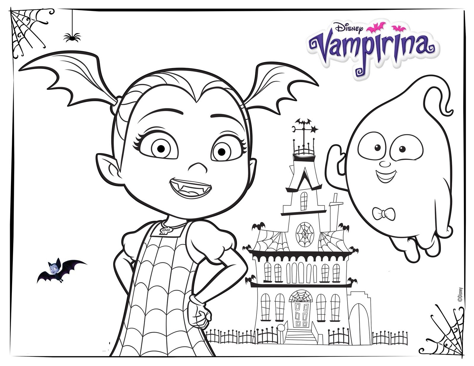 Vampirina And House Coloring Pages Disney Coloring Pages Halloween Coloring Pages Halloween Coloring