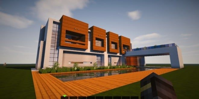 The escape modern house 1 8 minecraft building ideas download save
