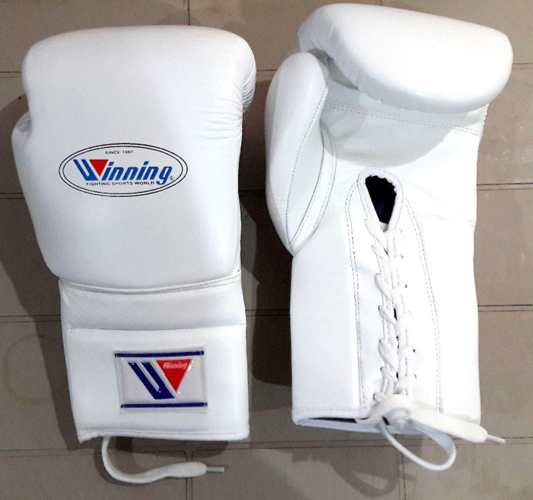 Winning boxing gloves white 100 US free Shipping. Boxing