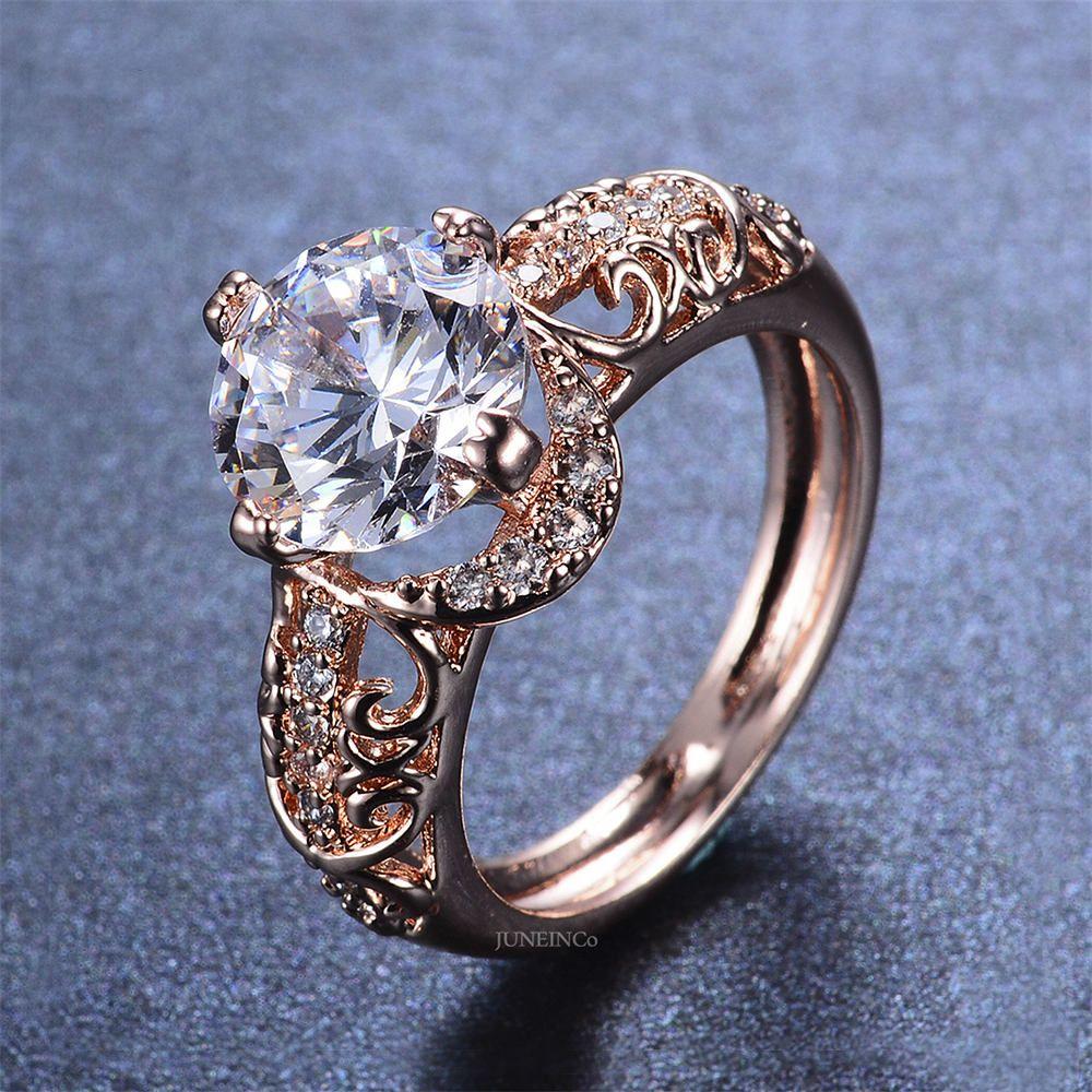Rose Gold Engagement Ring Filigree Engagement