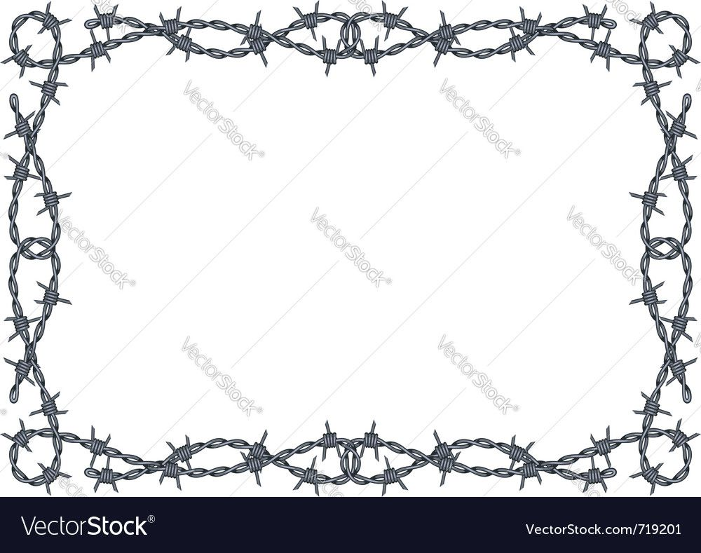 barbed wire frame vector. Download a Free Preview or High Quality ...