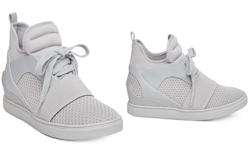 64d8ba45137 Steve Madden Women s Lexi Flyknit Wedge Sneakers - Sneakers - Shoes - Macy s