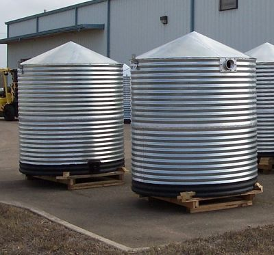 Waterharvest Classic Corrugated Metal Cistern By Watercache Com Via Flickr Rain Water Collection Water Barrel Storage Water Storage Tanks