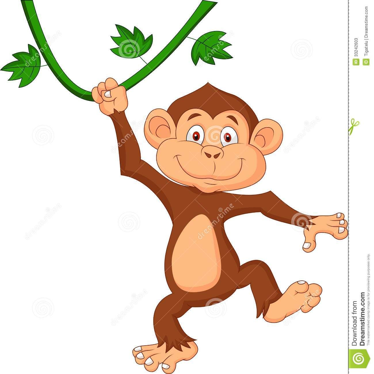 Cute Monkey Cartoon Hanging - Download From Over 26 ...