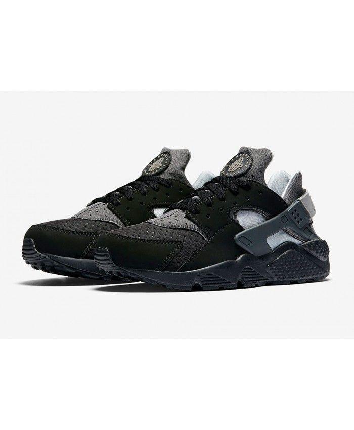 save off 1a130 c5c28 Nike Air Huarache Raiders Black Wolf Grey Trainer