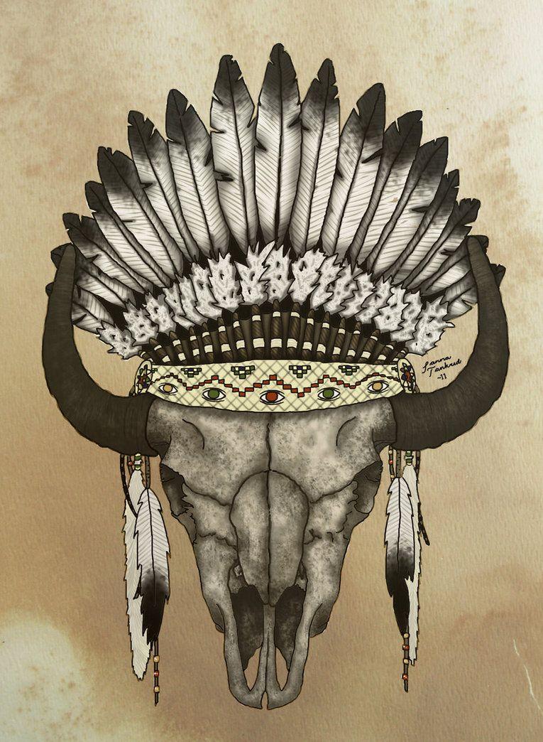 Buffalo Skull Buffalo Skull Buffalo Skull Art Skulls Drawing