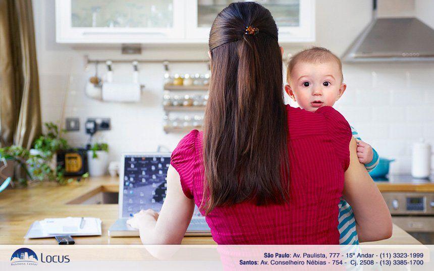 10 dicas para mulheres que trabalham em casa com filhos pequenos