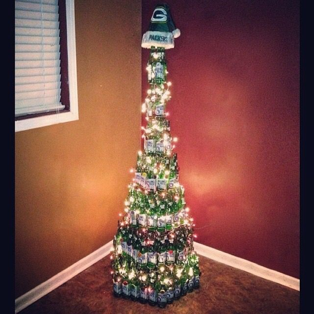My Rolling Rock Christmas tree! 216 bottles, 97 unique craft beer bottle  cap ornaments. - My Rolling Rock Christmas Tree! 216 Bottles, 97 Unique Craft Beer