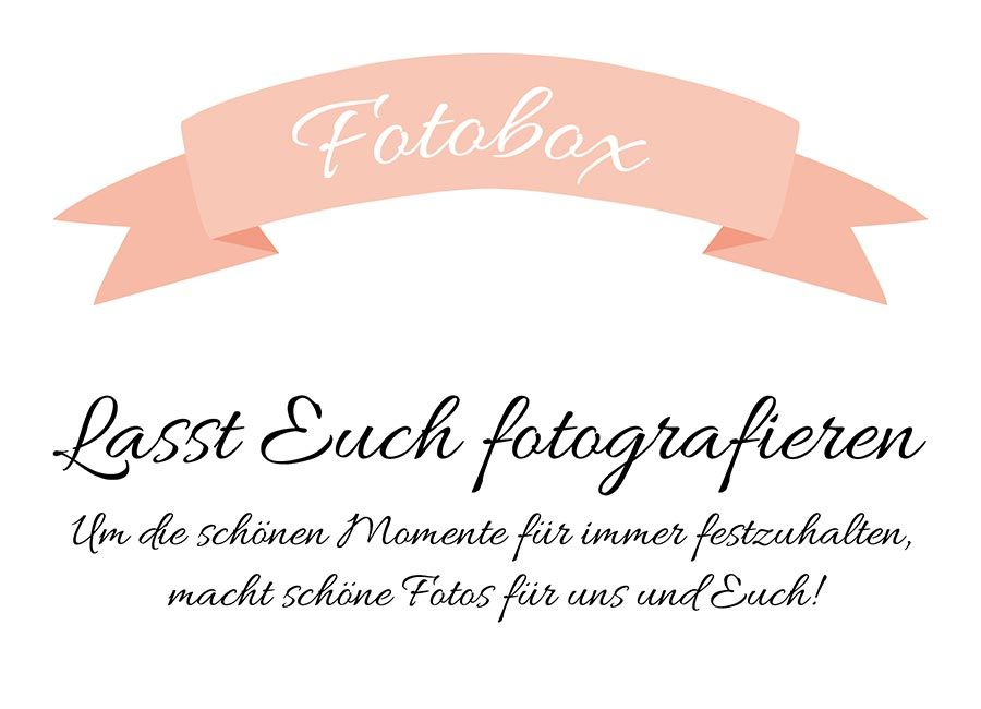 fotobox schild f r die hochzeit zum download hochzeit. Black Bedroom Furniture Sets. Home Design Ideas