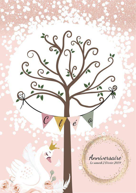 arbre empreintes cygne arbre empreintes pour bapt me arbre empreintes anniversaire