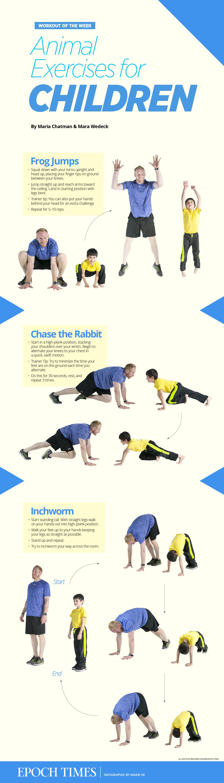 Animal Exercises For Children Epoch Times Health Kids Workout Newspaper Editorialdesign