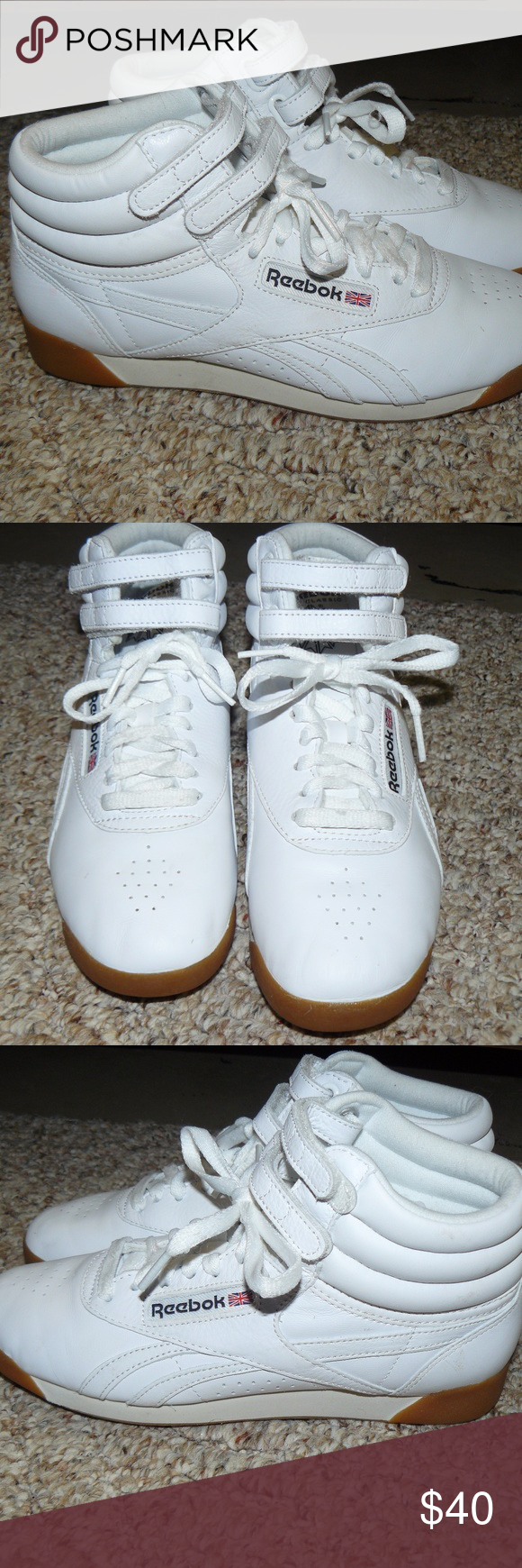 NWOB Reebok Classic Leather High Tops Sz 7.5 2de660f66