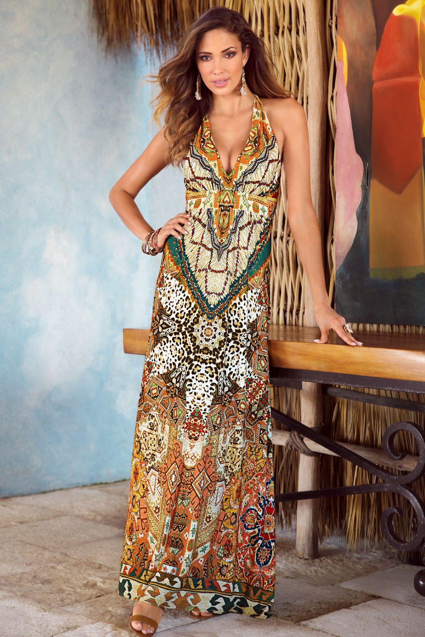 Kenyan Safari Maxi Dress #BostonProper #SummerFashion