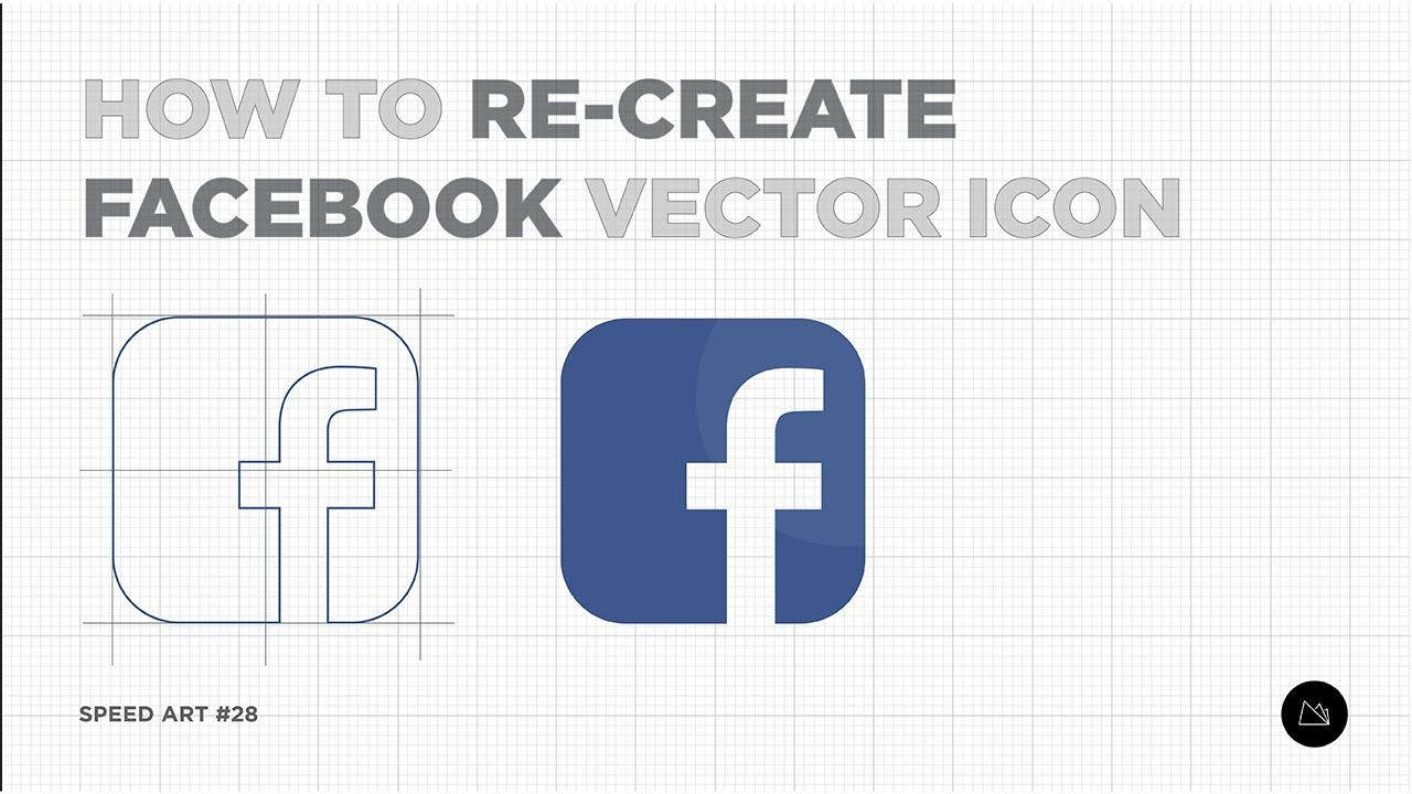 How To Make Facebook Icons In Adobe Illustrator Cc Speed Art 028 In 2020 Facebook Icons Facebook Icon Vector Speed Art