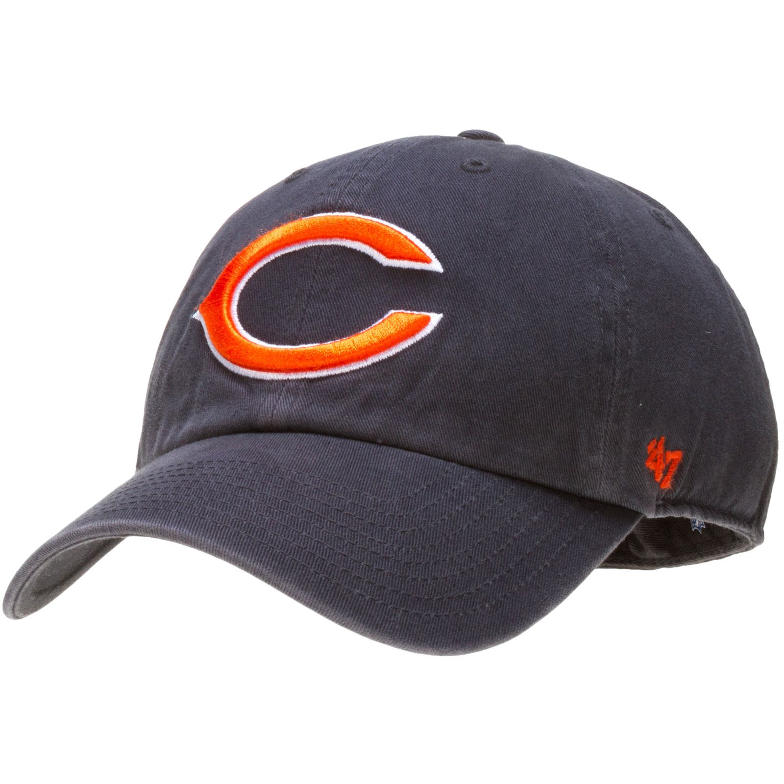 2163052ca Chicago Bears Mens Navy Fitted Slouch Hat with Embroidered