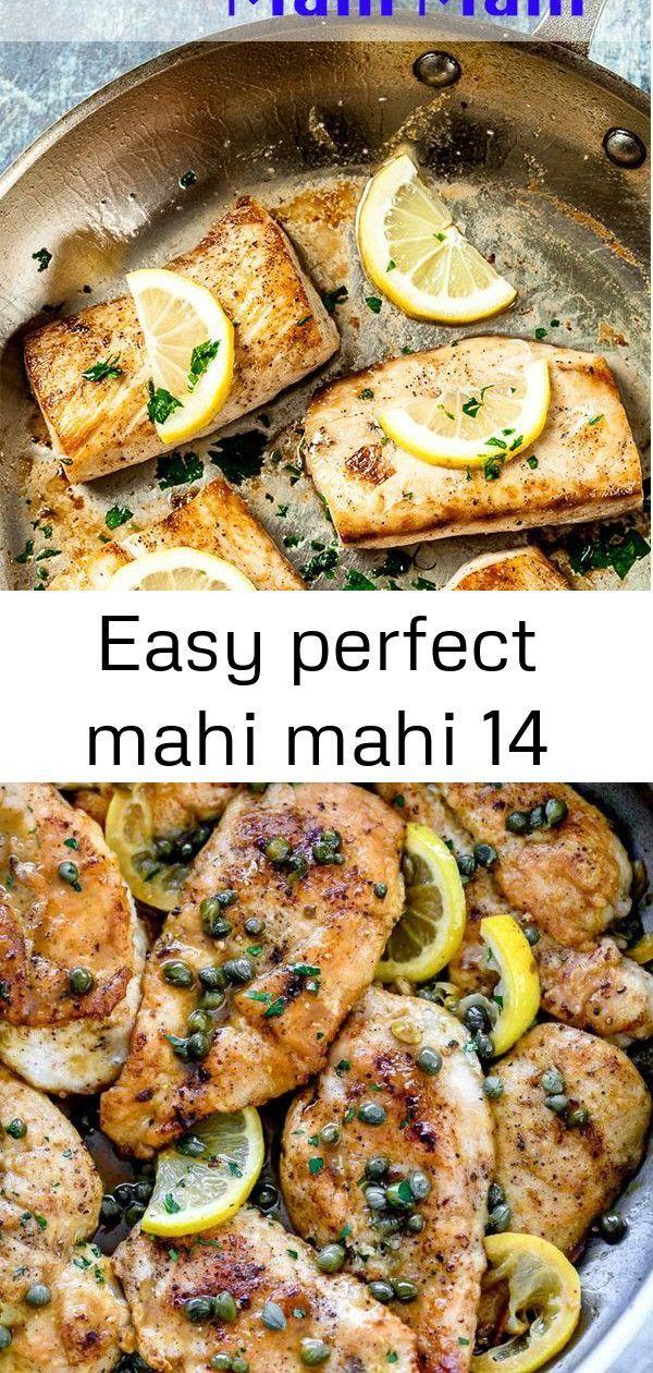 Lemon Garlic Mahi Mahi. Amazingly tender, flaky, healthy, and soooo delish! Super easy cooking meth